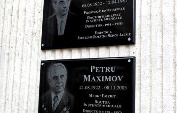 09.11.2017 Dezvelirea plăcilor comemorative fondatorului Biroului de Expertize Medico-Legale Petru AREȘEV și întemeietorului actualului sediu al Centrului de Medicină Legală Petru MAXIMOV